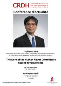 Iwasawa confeěrence RVB